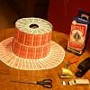Как сделать свадебные шляпы на машину для украшения?