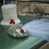 украшения на свадебную машину шляпы