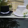 свадебные шляпы на машину